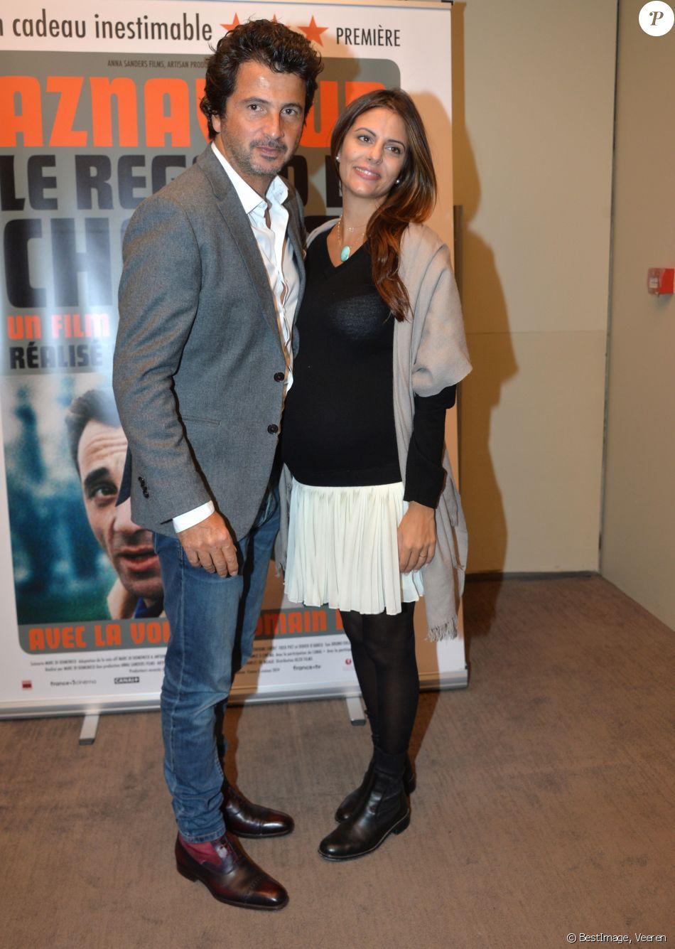"""David Marouani et sa nouvelle compagne enceinte - Avant-première du film """"Le Regard de Charles"""" à Paris le 23 septembre 2019. © Veeren/Bestimage"""