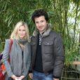 Sarah Lelouch et son mari David Marouani - People au village des Internationaux de France de tennis de Roland Garros à Paris, le 28 mai 2014.