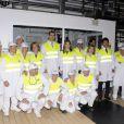 Letizia d'Espagne et son époux Felipe visitent le laboratoire d'investigations Danone, à Madrid. 13/07/09
