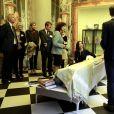 """La princesse Mary de Danemark visite l'Hôpital européen Georges-Pompidou AP-HP à Paris le 7 Octobre 2019. Elle visite la pièce pour jeunes patients gracieusement réalisée par le designer P.Stark. L'espace """" Marina Picasso """" situé dans l'allée centrale de l'hôpital européen Georges-Pompidou est inspiré par la célèbre Galerie des Glaces du château de Versailles. © Dominique Jacovides / Bestimage"""