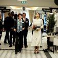 La princesse Mary de Danemark, Sophie Boissard, directrice générale du groupe Korian lors de la visite de la résidence pour personnes âgées Korian Monceau à Paris le 8 octobre 2019. © Dominique Jacovides / Bestimage