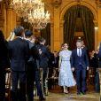 La princesse Mary de Danemark, le prince Frederik de Danemark - Arrivées au dîner à l'hôtel de ville de Paris en l'honneur du couple princier du Danemark le 8 octobre 2019. © Dominique Jacovides / Bestimage