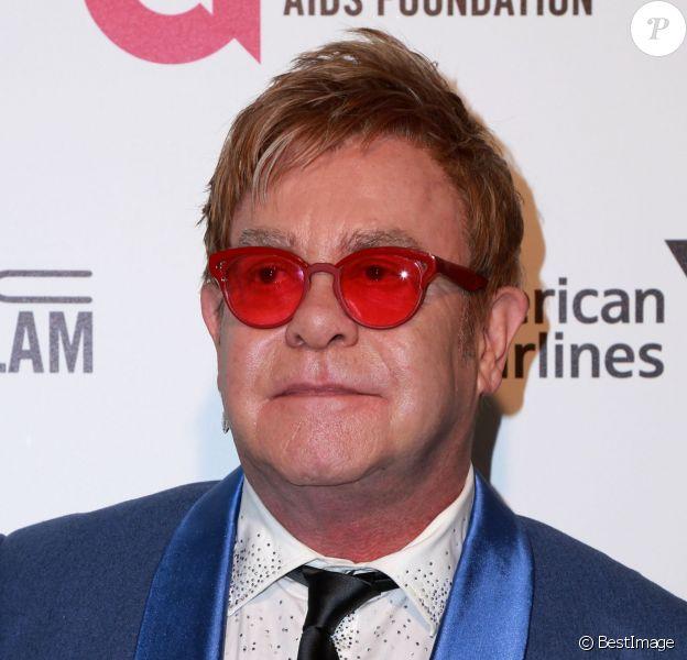 """Elton John, lors de la soirée """"Elton John AIDS Foundation Oscar Party"""" à West Hollywood, le 22 février 2015."""