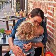 Daniela Martins avec ses enfants E et V, sur Instagram,  le 7 août 2019