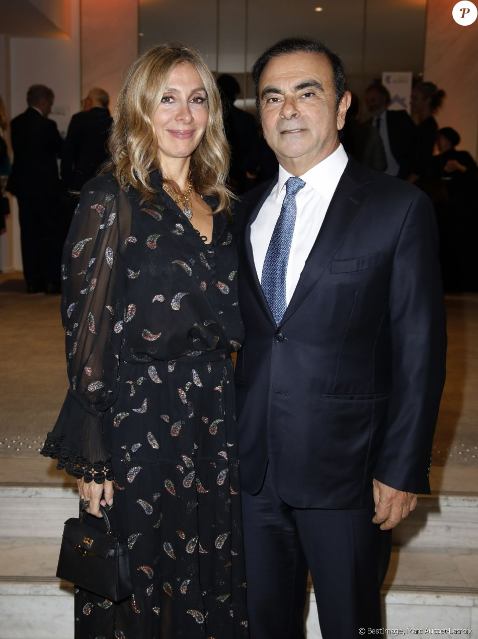 Carlos Ghosn et sa femme Carole - Gala Scopus 2018 au Pavillon Gabriel à Paris le 15 octobre 2018. © Marc Ausset-Lacroix/Bestimage
