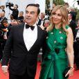 """Carlos Ghosn et sa femme Carole Nahas - Montée des marches du film """"L'Amant Double"""" lors du 70ème Festival International du Film de Cannes. Le 26 mai 2017. © Borde-Jacovides-Moreau/Bestimage"""