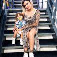 """Fanny Rodrigues de """"Secret Story 10"""" et son fils Diego, sur Instagram, le 13 août 2019"""