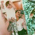 """Fanny Rodrigues de """"Secret Story 10"""" complice avec son fils Diego, sur Instagram, le 10 septembre 2019"""