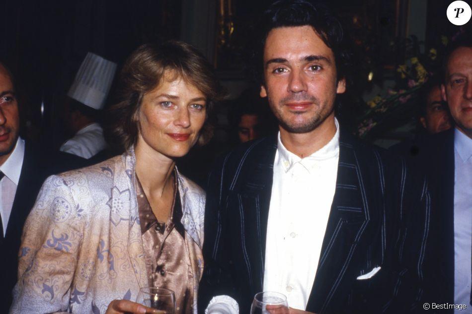 Jean-Michel Jarre et Charlotte Rampling en 1990.