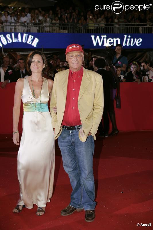 Niki Lauda et sa femme Brigit