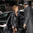 Whitney Houston arrive à Londres pour faire la promotion de son nouvel album  I look to you . 14/07/09