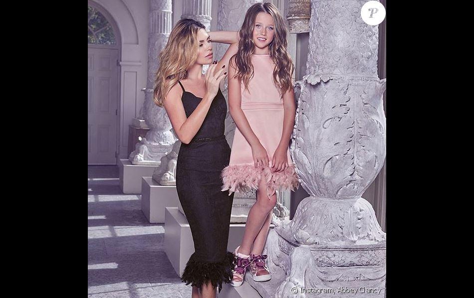Abbey Clancy et sa fille Sophia (8 ans) sont les égéries de la collection Abbey Clancy for Lipsy. Octobre 2019.