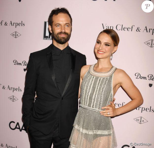 Benjamin Millepied et sa femme Natalie Portman assistent au gala annuel du 'L.A. Dance Project' à la galerie d'art Hauser & Wirth. Los Angeles, le 19 octobre 2019.
