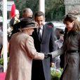 Visite officielle de Nicolas Sarkozy et de son épouse Carla Bruni-Sarkozy au Royauen-Uni- Arrivée au château de Windsor le 26 mars 2008 et rencontre avec la reine Elizabeth.