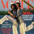 Christy Turlington en couverture de Vogue avec Naomi Campbell en 1992