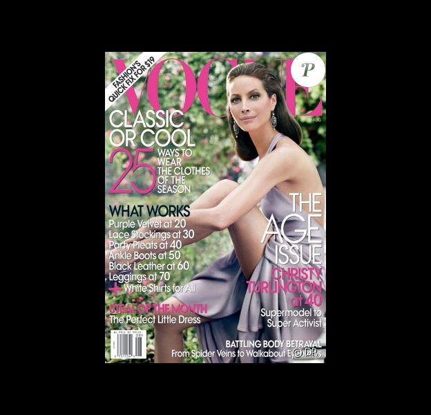 Christy Turlington en couverture de Vogue, août 2009
