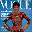 Christy Turlington en 1990 en couverture de Vogue