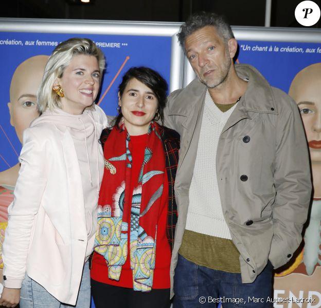 """Cécile Cassel, Prune Nourry, Vincent Cassel - Avant-Première du film """"Serendipity"""" au MK2 Bibliothèque à Paris le 21 Octobre 2019. © Marc Ausset-Lacroix/Bestimage"""