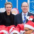 Le prince Albert II de Monaco et la princesse Charlene ont fêté le Noël des enfants au palais princier à Monaco. Le 18 decembre 2013