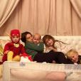 Hilaria Baldwin et ses quatre enfants Carmen, Rafael, Leonardo et Romeo. Septembre 2019.