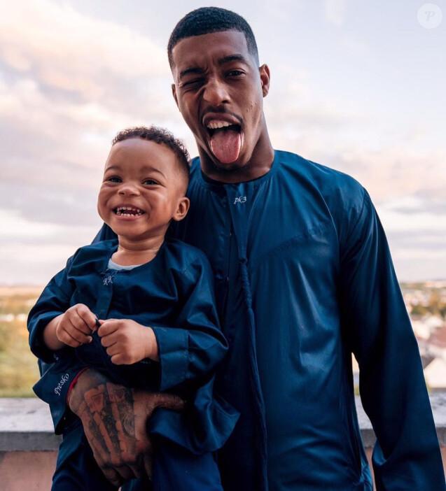 Presnel Kimpembe et son fils Kayis, né grand prématuré le 5 octobre 2017. Photo publiée sur Instagram le 2 septembre 2019