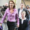 Cécilia Sarkozy et son fils Louis lors du second tour de l'élection présidentielle le 22 avril 2007.