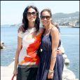 Rosario Dawson et Maria Grazia Cucinotta quittent le 7e Festival Global sur l'île d'Ischia, en Italie, le 16 juillet 2009 !