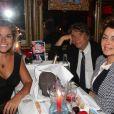 Bernard Tapie avec sa femme Dominique et sa fille Sophie - Michou fête ses 85 ans et les 60 ans de son cabaret à Paris le 20 juin 2016. © Philippe Baldini / Bestimage