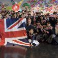 Le prince Harry, duc de Sussex, le 2 novembre 2019 à Tokyo lors de sa rencontre avec des élèves et des athlètes handicapés de la Nippon Foundation Para Arena prétendant à une place en sélection pour les Jeux paralympiques.