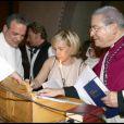 Hélène Darroze, la marraine de Joy Hallyday au cours du baptême de cette dernière à Gstaad en Suisse le 5 juillet 2009