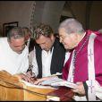 Johnny Hallyday au cours du baptême de Joy à Gstaad en Suisse le 5 juillet 2009