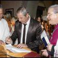 Jean-Claude Darmon, le parrain de Joy au cours du baptême de cette dernière à Gstaad en Suisse le 5 juillet 2009