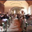 L'église de Lauenen où se sont retrouvés Johnny et Laeticia Hallyday avec leurs filles Jade et Joy au cours du baptême de cette dernière à Gstaad en Suisse le 5 juillet 2009