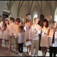 Les enfants des convives au cours du baptême de Joy Hallyday à Gstaad en Suisse le 5 juillet 2009