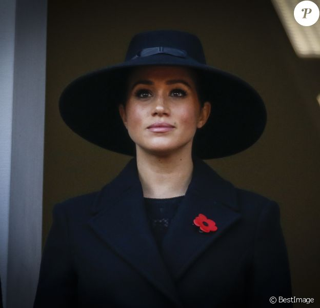 Meghan Markle, duchesse de Sussex - La famille royale d'Angleterre lors du National Service of Remembrance à Londres le 10 novembre 2019.