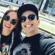 Alizée et son mari Grégoire Lyonnet. Instagram. Le 16 mai 2017.
