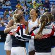 Les Françaises Caroline Garcia et Kristina Mladenovic - La France bat l'Australie en finale et remporte sa troisième Fed Cup à Perth, le 10 novembre 2019. © Action Plus / Panoramic / Bestimage