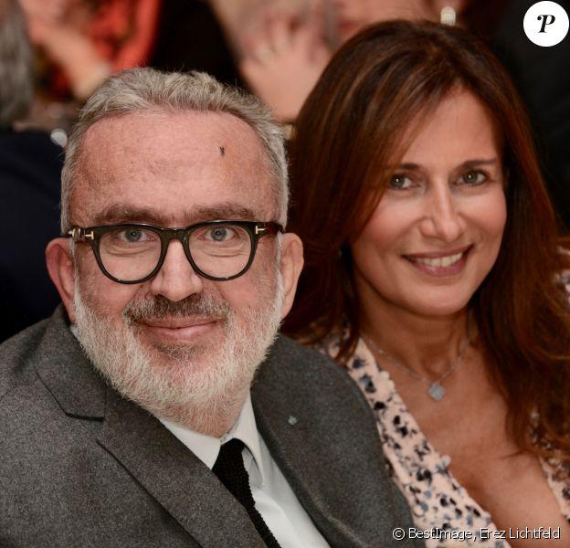 """Exclusif - Dominique Farrugia et sa femme Isabelle - Gala annuel du """"Casip-Cojasor"""" à l'Hôtel Salomon de Rothschild à Paris, le 12 novembre 2019. © Erez Lichtfeld/Bestimage"""