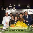 Exclusif - Le chef Eric Briffard sur le stand village international à la soirée Rungis au Grand Palais, le festival du bien manger à Paris le 15 novembre 2019. © Jack Tribeca / Bestimage