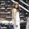 Jennifer Lopez sur le tournage de The Back-Up Plan hier, mardi 21 juillet à New York