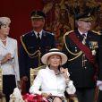 La reine Paola lors de la Fête nationale à Bruxelles, le 21 juillet 2009