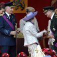 La reine Fabiola et son beau-frère le roi Albert II, sous les yeux du prince Philippe et de la princesse Mathilde