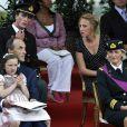Le prince Lorenz et la princesse Astrid, avec leurs enfants Laetitia Maria, Amadeo et Maria Laura (derrière)