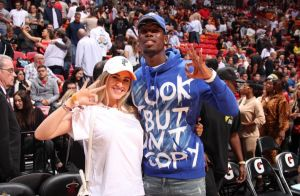 Paul Pogba et sa femme Zulay : duo assorti pour une soirée sportive