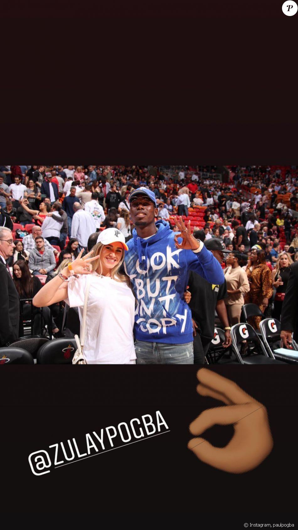 Paul et Zulay Pogba ont assisté au match Heat de Miami VS Cavaliers de Cleveland à l'AmericanAirlines Arena de Miami le 20 novembre 2019.
