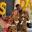 Paul Pogba sur Instagram, le 16 novembre 2019. Déclaration d'amour à sa compagne Maria pour son anniversaire, et premières photos de leur fils à visage découvert.