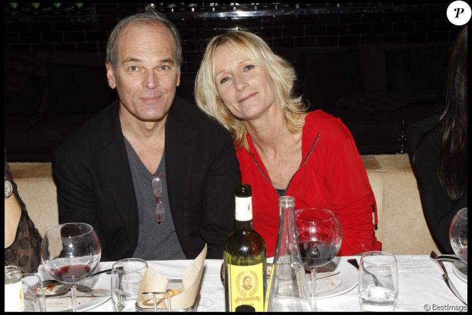 Laurent Baffie et sa femme Sandrine le 7 décembre 2011 à Paris.
