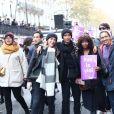 Sonia Rolland lors de la marche contre les violences sexistes et sexuelles (marche organisée par le collectif NousToutes) de place de l'Opéra jusqu'à la place de la Nation à Paris le 23 Novembre 2019 © Cyril Moreau / Bestimage