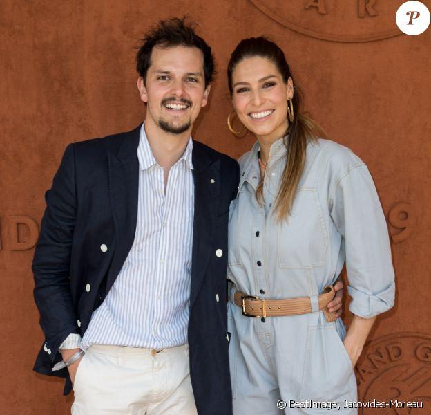 Laury Thilleman (Miss France 2011) et son compagnon le chef cuisinier Juan Arbelaez au village lors des internationaux de tennis de Roland Garros à Paris, France, le 1 juin 2019. © Jacovides-Moreau/Bestimage