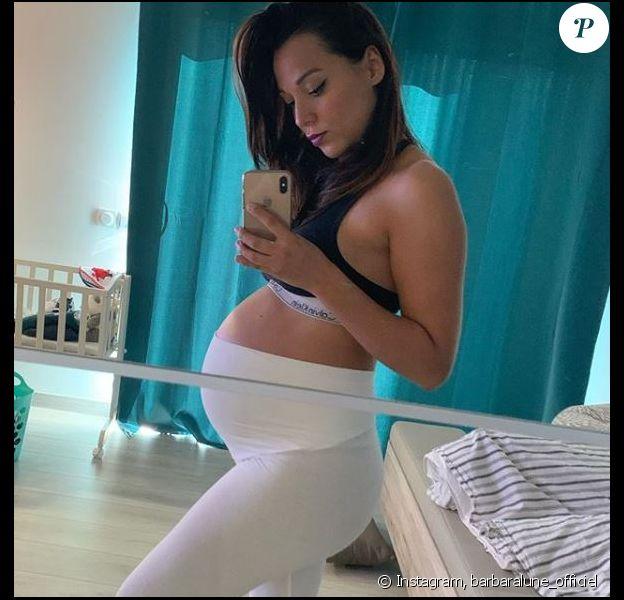 Barbara Lune annonce être enceinte, sur Instagram le 24 novembre 2019.